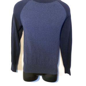 J. Crew Men's Blue Crewneck Sweater